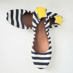 Lucky Brand Stripe Ballet Flats (SZ9.5)
